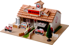 Building assembling leisure hut 3-6 ceramic building blocks children's educational toys genuine commitment