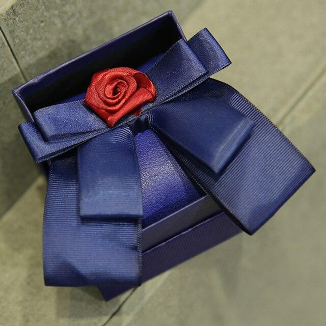 Мода мужская модной красный цветок королевский синий галстуки-бабочки для прохладных невесты свадьба