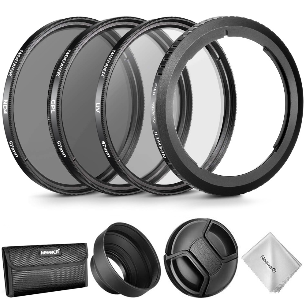 Neewer Lens Accessory Kit for Canon PowerShot SX530 HS,SX520 HS,SX60 HS,SX50 HS,SX40,Includes:Filter Adapter Ring + 67mm Filter