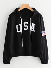 women hoodies winter usa flag sweatshirts ladies autumn festivals classics clothes harajuku sweatshirt punk pink