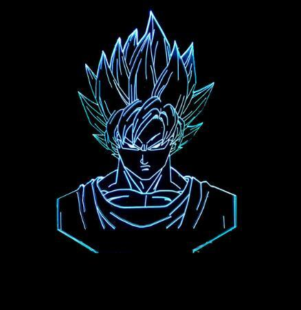 Us 11 51 36 Off Dragon Ball Z Super Saiyan God Goku Action Figures 3d Table Lamp 7 Color Changing Night Light For Boys Kids Gifts In Night Lights