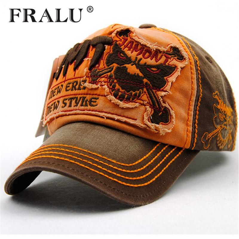 a085de0e FRALU Brand Men Baseball Caps Dad Casquette Women Snapback Caps Bone Hats  For Men Fashion Vintage Gorras Letter Cotton Cap