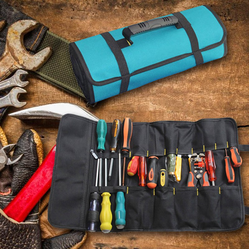 Pouch Tool Bag Roll Up Wrench Pocket Storage Case Organizer Spanner Portable Diy Tool Parts
