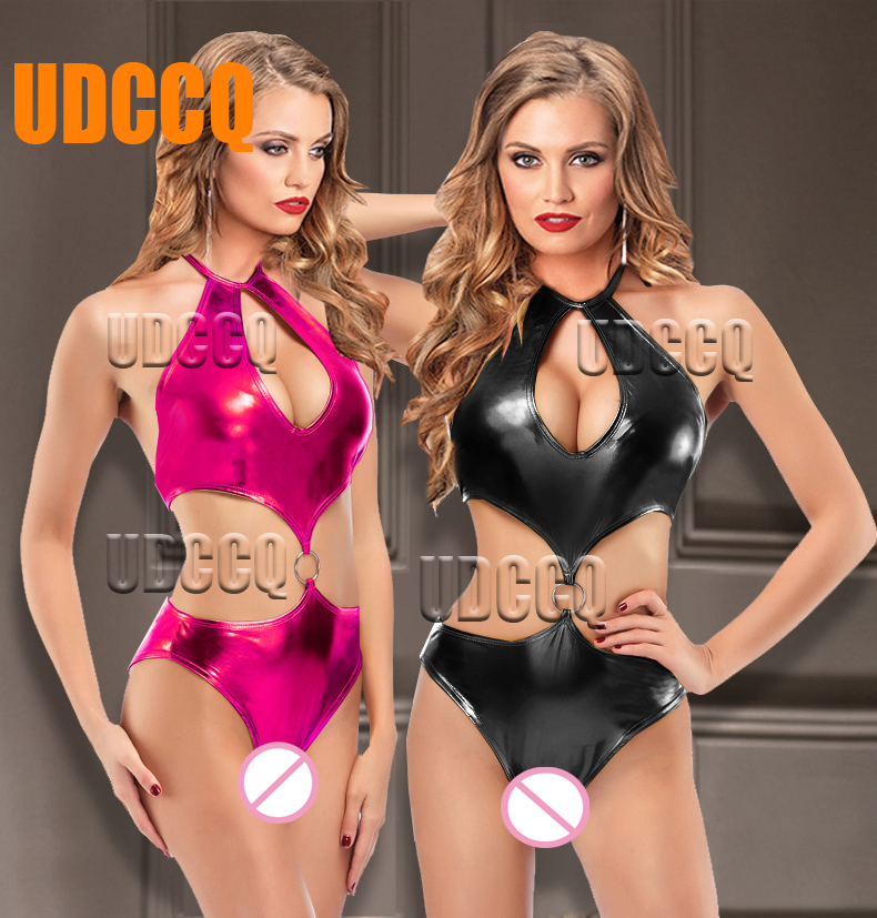 Women Sexy PVC Pole Dancing Costumes Chemise Moonight Underwear Sexy Lingerie Hot Sexy Costumes Disfraz Carnavales  Babydoll