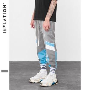 Image 4 - אינפלציה 2020 חדש אוסף סתיו Jogger מכנסי טרנינג טלאי היפ הופ Streetwear מקרית מכנסיים לגברים נשים 8850W