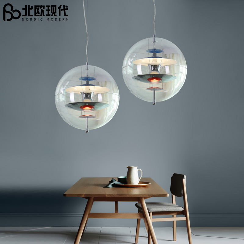 danish design replica Nordic pendant light glass ball buffet UFO round hanging light dining room living room bar hanging light danish design iv15q702slbk