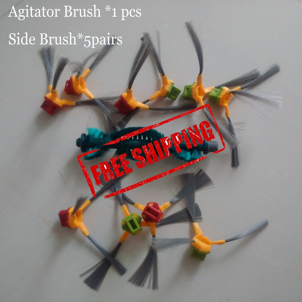 Agitator Main Bristle Brush *1PCS side Brush *5PAIRS for Ecovacs Deebot D62 D63 D65 D66 D68 D77 D79 Vacuum cleaners карабинов вепрь 7 62 х 63 отзывы купить
