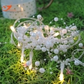 Белый жемчуг фея огни строки гирлянда праздник 10led шарик света партии весенний сад освещение с питанием от батареи 3 В AA закрытый использовать
