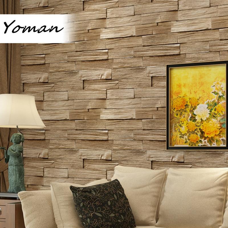 10m Wallpaper Modern 3D Brick Bedroom Wall Paper Roll Background Vintage