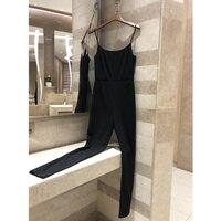 2019 women's black jumpsuit trousers women's jumpsuit ladies sleeveless solid color elegant female jumpsuit