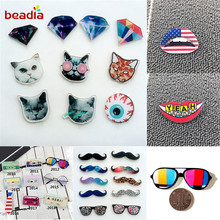 Badges Decoration Pin-On-Brooch Acrylic Kawaii 3D for Shoes/bags 1pcs Painting Multi-Shapes