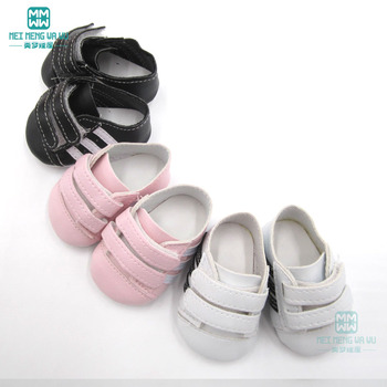 цена на 7cm Mini baby white sports shoes sneakers for 43 cm toy new born dolls and american doll accessories