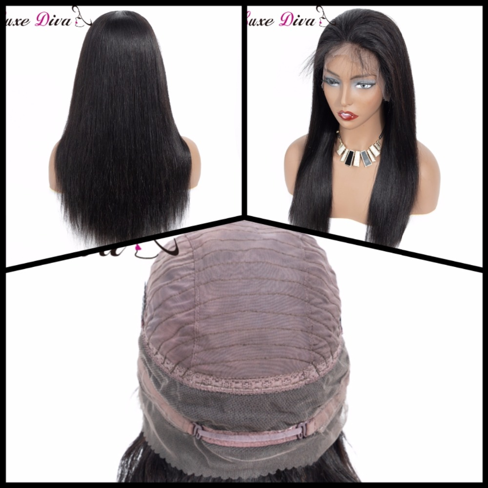 Brazilian Straight Lace Front Human Hair Wigs 360 Lace Frontal Wig Pre Plucked With Baby Hair
