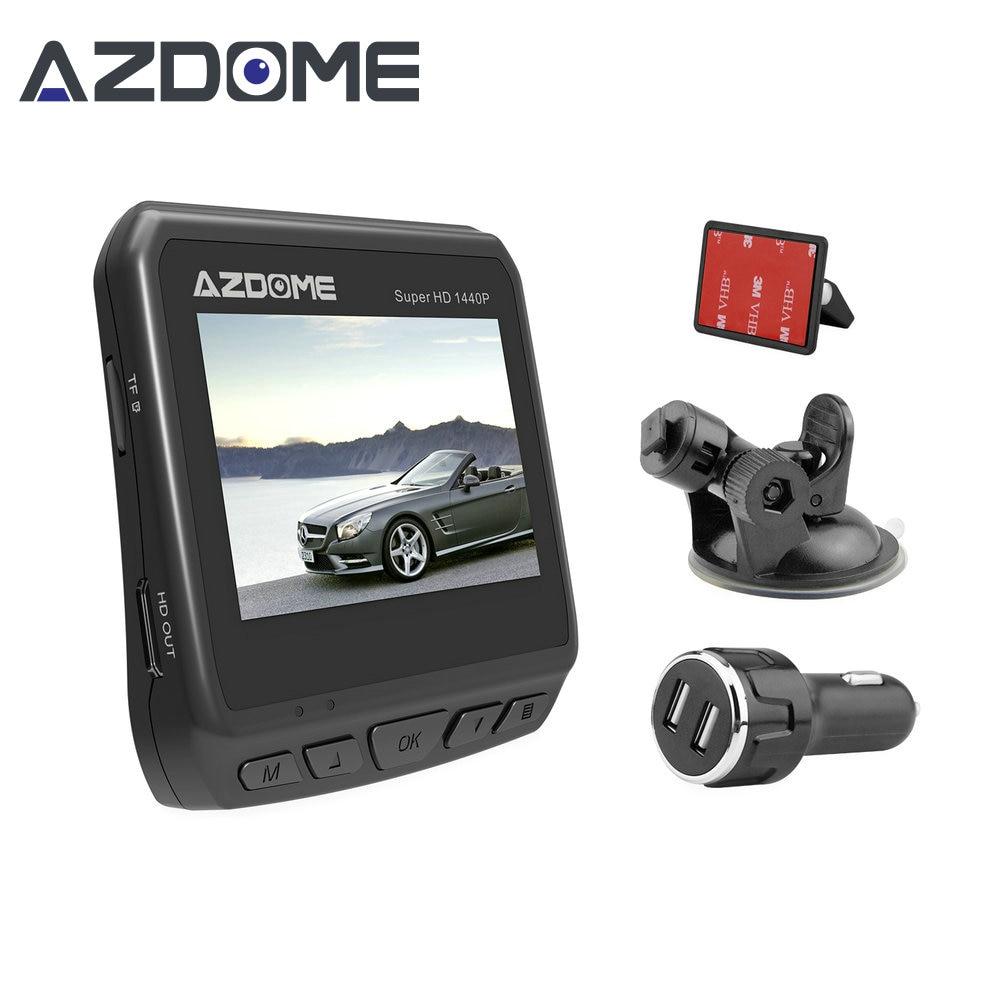 Azdome DAB211 Car DVR Dashboard Camera Video Recorder Loop Recording Ambarella A12 2560x1440P Super HD Dash Cam Night Vision