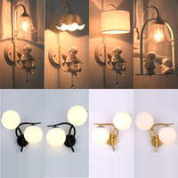 Heißer verkauf Wand Lampen innen schwarz weiß wand beleuchtung Minimalistischen kunst Leuchte mit angel Hause Dekoration wand