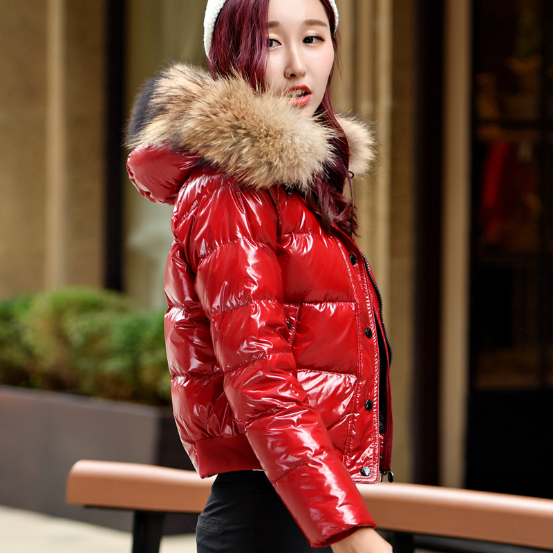 Winter New Duck Down Jacket Women Short Fashion Big Fur Collar Slim Thick European Outwear new women s fashion authentic korean slim fur collar down jacket female long thick warm white duck down jacket for snow h1013