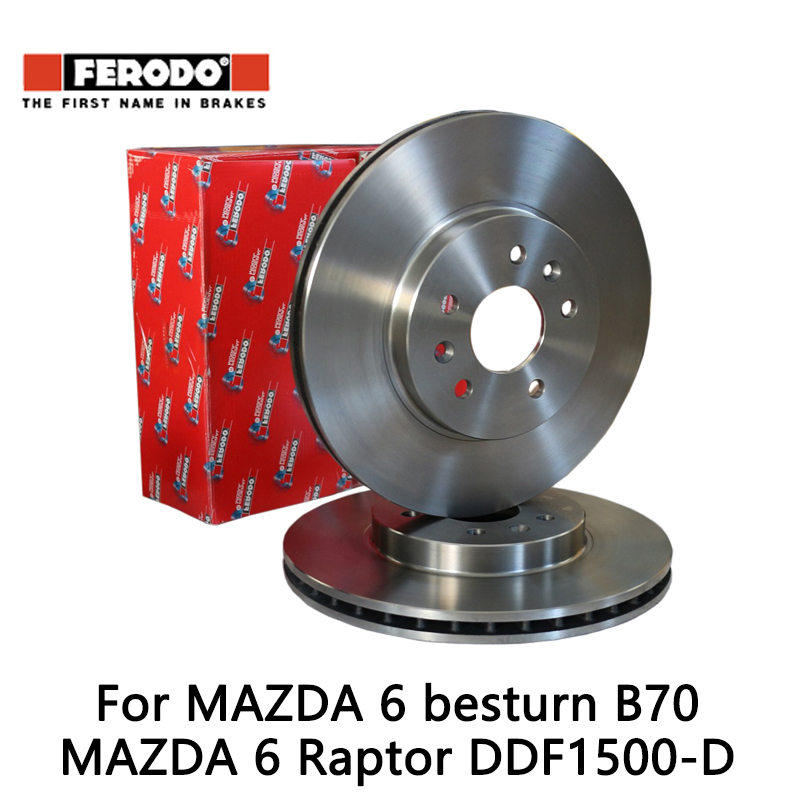 2pieces set Ferodo Car rear Brake Disc For MAZDA 6 2 0 2 3 besturn B70