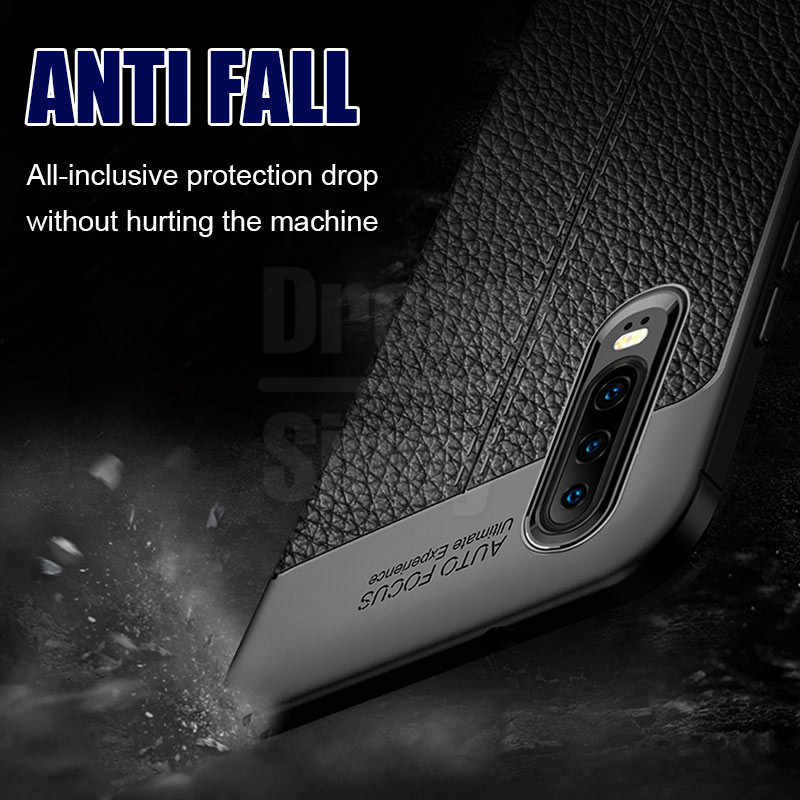 Luxury Ultra Thin Leather Case On The For Huawei P20 P30 Mate 20 10 Lite Shockproof Case For Honor 8x 10 20 Pro Soft Phone Cover