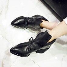 2017ใหม่รองเท้าผู้หญิงฤดูใบไม้ผลิ/ฤดูใบไม้ร่วงข้อเท้าบู๊ทส์สำหรับผู้หญิงหนังแท้B Ootiesแฟชั่นสุภาพสตรีสะดวกสบายมาร์ตินรองเท้าสั้น
