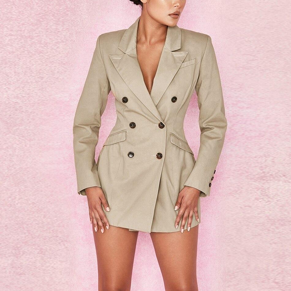 De 2018 Mode Photo Manches As Mini À Robe Sexy D'hiver Femmes V Boutonnage Nouvelle Double Qualité cou Longues Haute Club dRqxZrRF