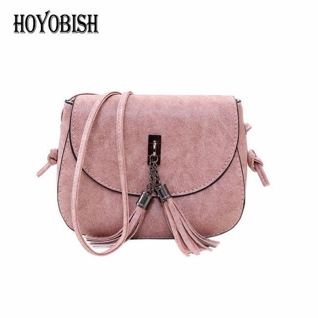 HOYOBISH 2018 Trendy Design Women Tassel Shoulder Bags Hasp Messenger Bags  Europe Style Lady Crossbody Bag Cheap sac femme OH205 2c3bfbb99d