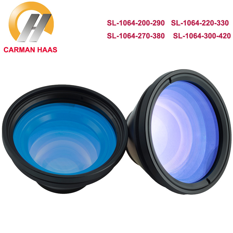 CARMANHAAS F theta Scan Lens Field Lens 1064nm 50x50 300x300 for 1064nm YAG Fiber Laser Marking Machine Parts in Lenses from Tools