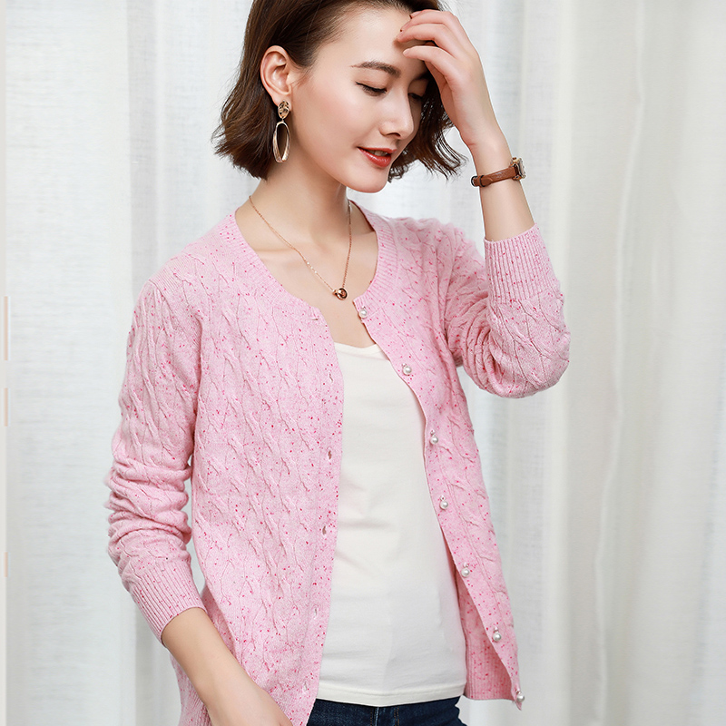 Women Cardigans 4Colors Winter New Fashion Sweater 100 Pure Cashmere Knitwear Ladies Oneck Jumpers Hot Sale