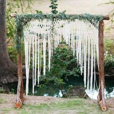 Boho Huwelijksboog Voor Altaar Of Home Decor. Unieke Macrame Bruiloft Ideeën Voorzichtige Berekening En Strikte Budgettering