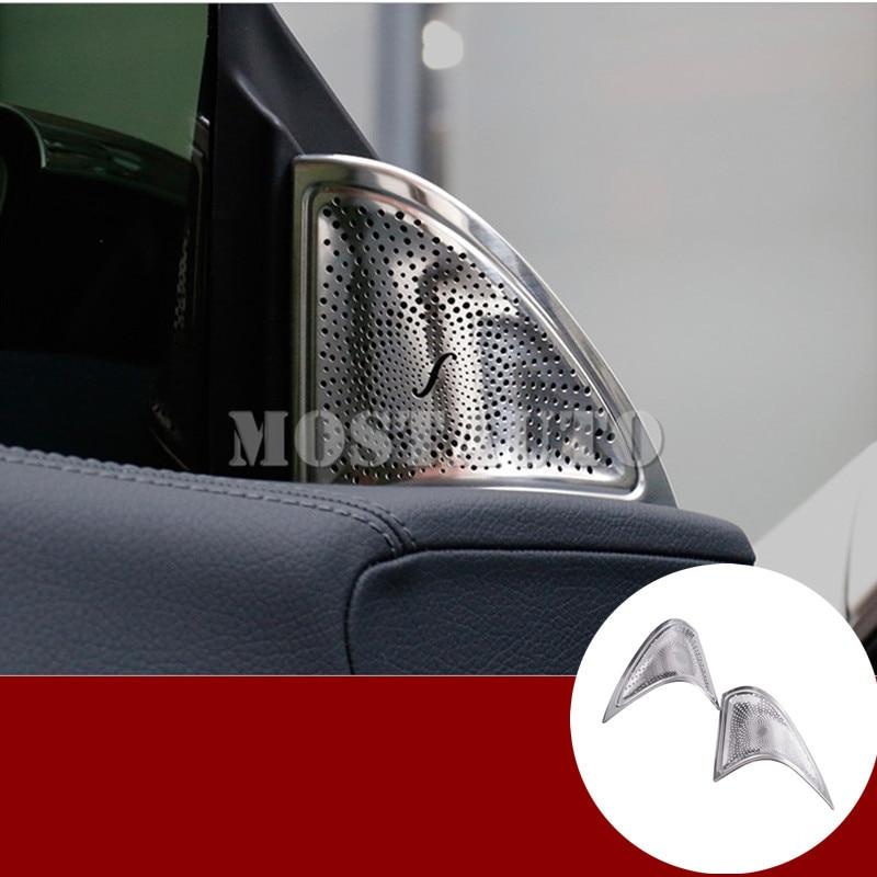 For Benz CLA C117 W117 Matte font b Car b font Door Audio Speaker Cover Trim