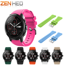 For Amazfit Stratos 2 2s smart watch strap Silicone bands bracelet belt for xiaomi huami amazfit band Replacement Samsung S3