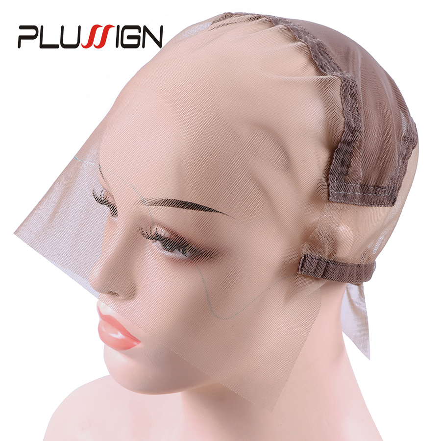 Diy Wig Cap Glueless Full Lace Wig Cap With Ear To Ear Stretch And Adjustable Straps Full Lace Cap Skin Color For Wig Making