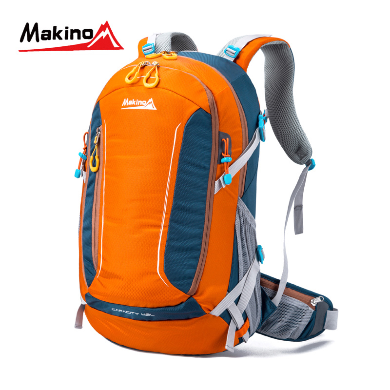 ФОТО Makino 2016 Outdoor Hiking Backpack Waterproof Nylon Lightweight Bags Large Capacity Men And  Women Sport Traveling Rucksack 40L