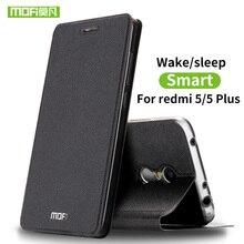 Mofi Für Xiaomi Redmi 5 Plus fall Für Xiaomi Redmi 5 fall abdeckung silikon luxus flip leder Für Xiaomi Redmi 5 Plus fall harte