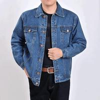 B men's outwear cowboy jackets clothing 2018 Spring autumn Large size jacket coat male button casual blue denim jacket S 4XL