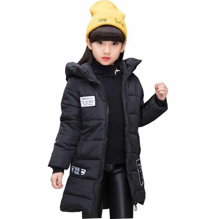 Новинка 2018 года; весенне-зимняя куртка для девочек; детская куртка с хлопковой подкладкой и капюшоном; детская одежда; парки для девочек; куртки; пальто