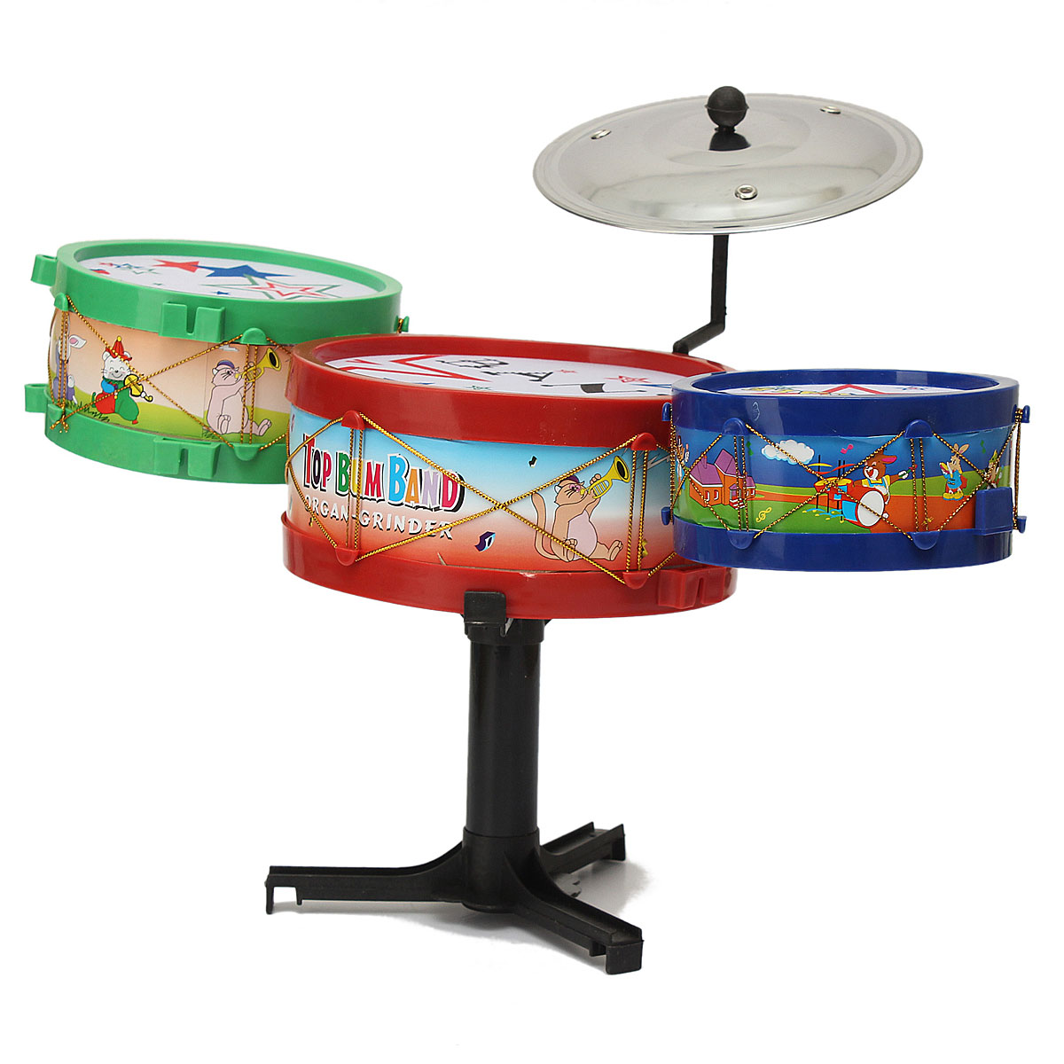 Hot Sale 4PC Set Mini Children Drum Kit Toys Musical Instruments For Kids Music Learning Educational Gift In Toy Instrument From
