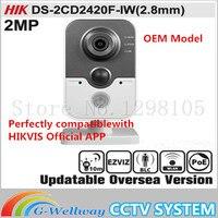OEM DS-2CD2420F-IW(2.8mm) HIKV original English Version IP Camera 2MP POE Network camera WIFI Security Camera ONVIF P2P HIK