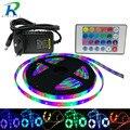 RGB Светодиодные ленты свет SMD5050 2835 5 м 10 м 15 м без Водонепроницаемый светодио дный s Лента диод ленты светодио дный лампа контроллер AC 220 В DC 12 В ...