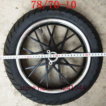 motorcycles wheel 78/70-10 Vacuum tire tubeless tyre with 10 inch wheel hub rims for motorcycles Electric bicycles