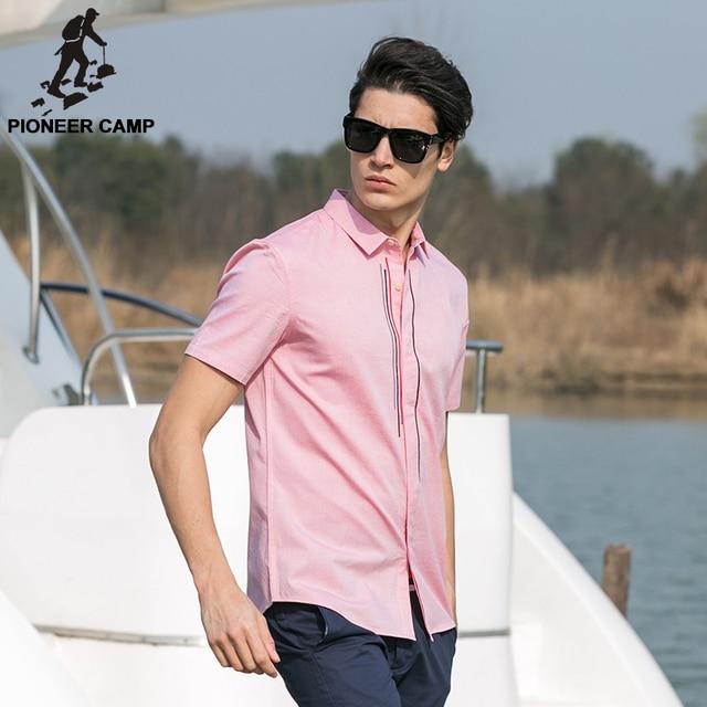 Pioneer Camp 2017 new fashion mens shirts shorts slim fit 100%cotton mens shorts casual shirt streetwear 666209