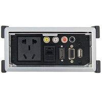 Media socket Tabletop Socket With HDMI2.0 VGA AV USB RJ45 3.5mm Audio Multimedia Outlet Panel For Hotel Meeting Room KTV Plug