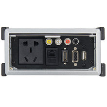 цена на Media socket Tabletop Socket With HDMI2.0 VGA AV USB RJ45 3.5mm Audio Multimedia Outlet Panel For Hotel Meeting Room KTV Plug