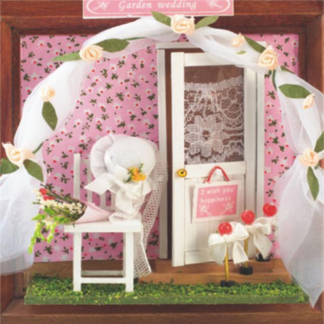 13616 mini flor loja de fios diy casa de boneca Casa De Bonecas miniaturas frete grátis