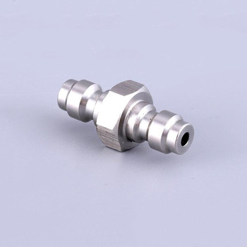 Stainless steel 8MM Plug Adapter Fittings PCP Airsoft Paintball Pneumatic Quick Coupler Pressure Pump Accessor 2pcs/lot цена 2017
