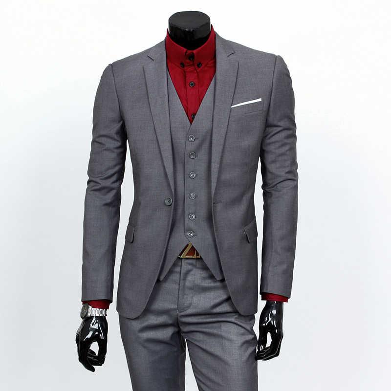 新しいスタイルの男性スーツファッションカジュアルシングルブレストvネックフルスリーブ良い品質ターンダウンスリムホワイトカラージョブ襟スーツ