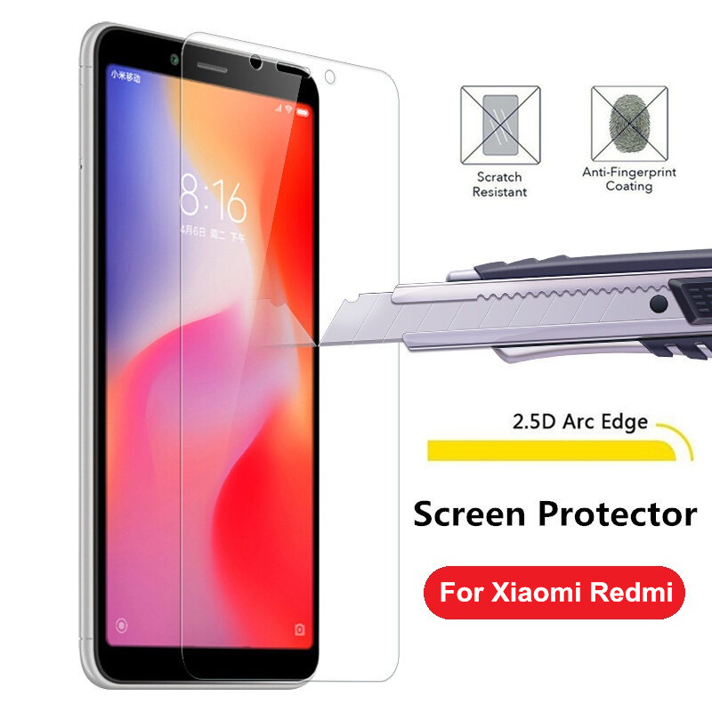 Tempered Glass For <font><b>Xiaomi</b></font> redmi 6 6A <font><b>7</b></font> 7A 5 plus Redmi <font><b>Note</b></font> 4 4X 5 6 <font><b>7</b></font> 5A Pro <font><b>3GB</b></font> Global Screen Protector Explosion proof Film image