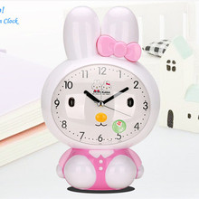 Kids alarm clock mini clock digital clock led table clock desktop clock with night light and voice prompt alarm function