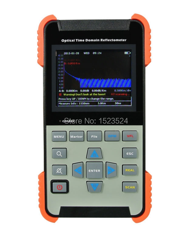 AOR-500A Singlemode 1310/1550nm 28/26dB 90KM Optical Time Domain Reflectometer Fiber Optic OTDR