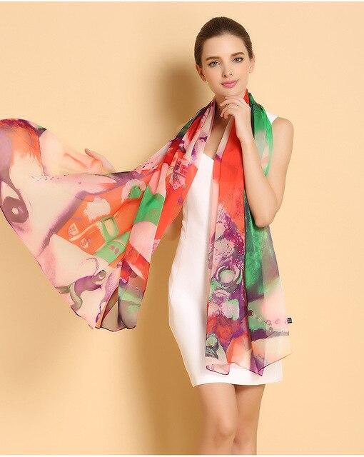 2017 nouvelle marque foulards de soie pour les femmes grand longue 180 110  cm 100 63dbb213417