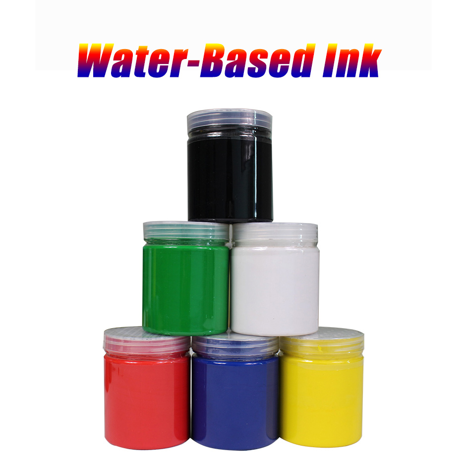 250g/bottle Screen Printing  Water-based Ink 6 Colors